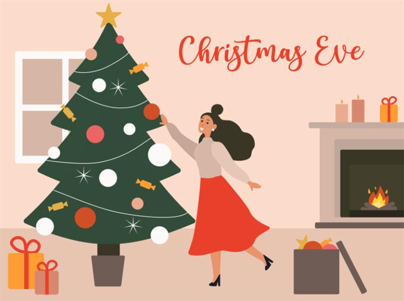Christmas-Eve-Illustration Christmas illustration examples that look amazing