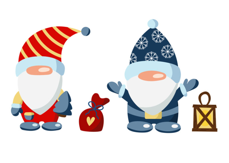 Christmas-gnomes Christmas illustration examples that look amazing