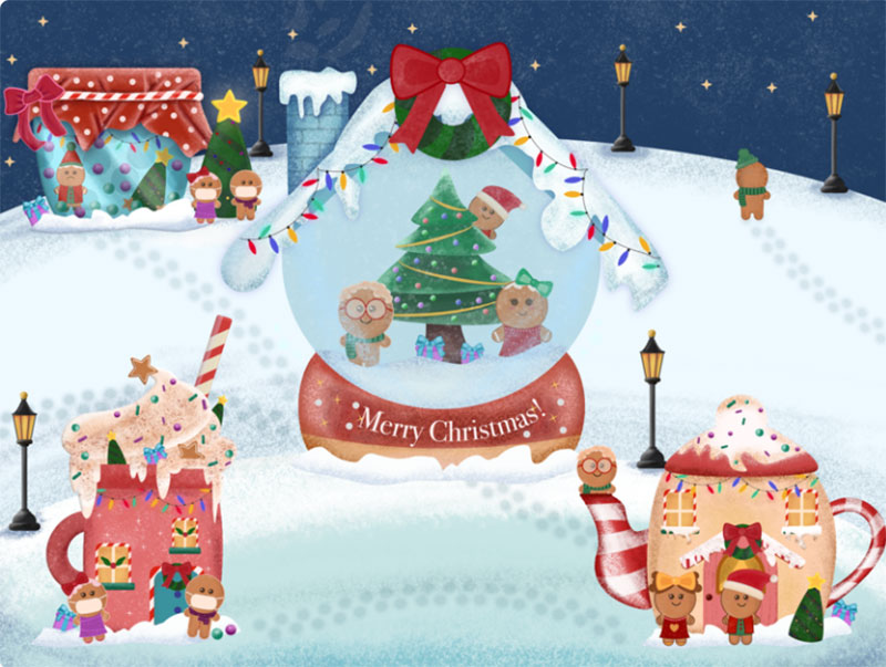 Christmas-Card Christmas illustration examples that look amazing