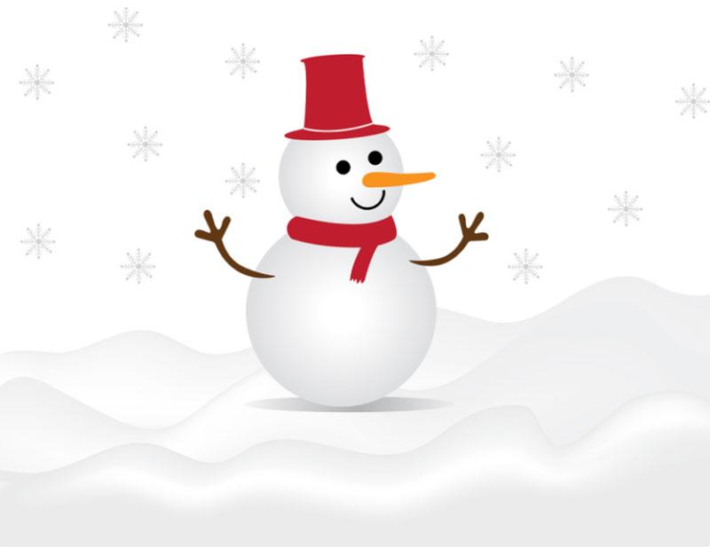 Christmas-Snow-Man-Illustration Christmas illustration examples that look amazing