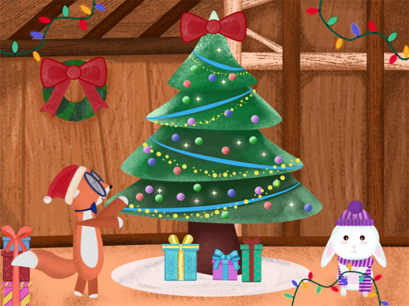 Getting-Ready-for-Christmas Christmas illustration examples that look amazing