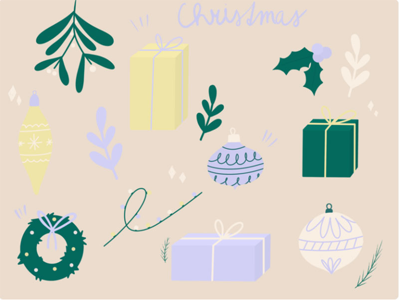 Christmas-doodles Christmas illustration examples that look amazing