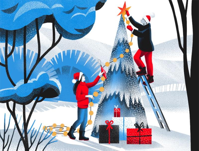 White-Christmas-Illustration Christmas illustration examples that look amazing