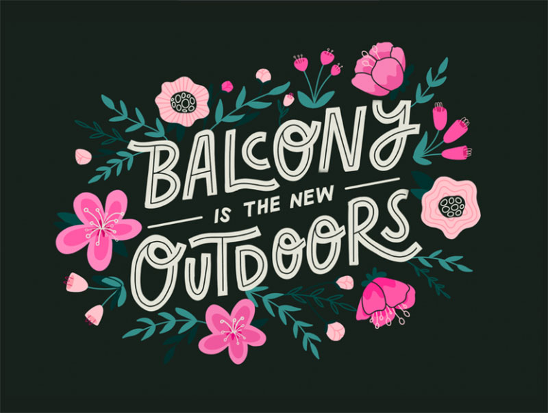 Balcony-is-the-new-Outdoors Dreamy spring illustration examples you must see