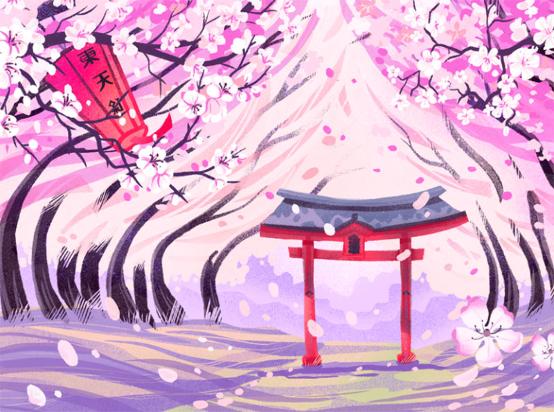 Sakura-Blossom Dreamy spring illustration examples you must see