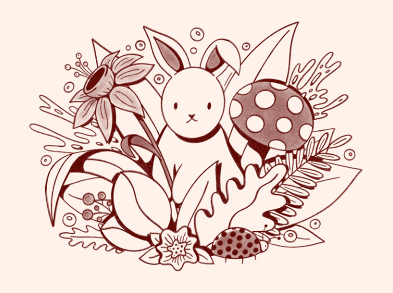 Spring-Sketch Dreamy spring illustration examples you must see