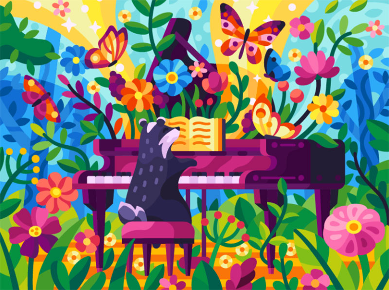 Forest-melody Dreamy spring illustration examples you must see