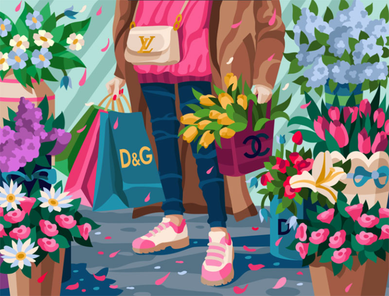 Fancy-look Dreamy spring illustration examples you must see