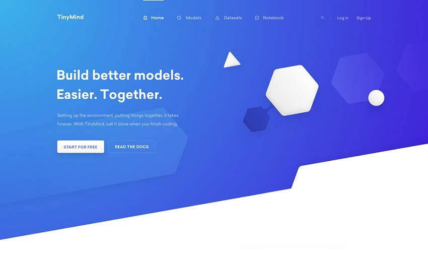TinyMind Landing Page