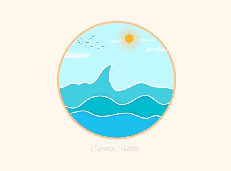 Summer-Feeling Lovely summer illustration examples to check out