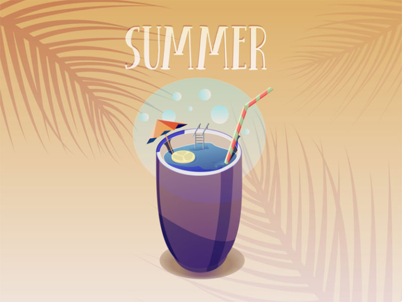 Summer-drink Lovely summer illustration examples to check out