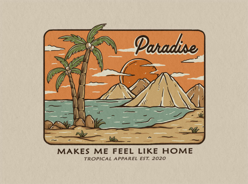 Summer-Paradise Lovely summer illustration examples to check out