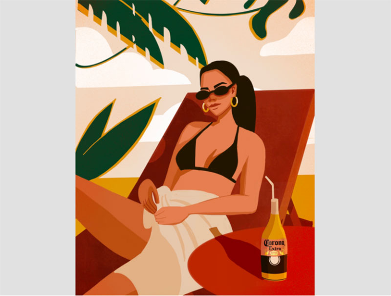 Summer-day Lovely summer illustration examples to check out