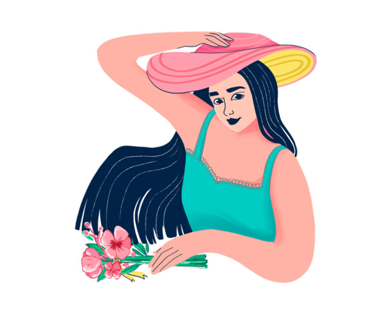 Summer-Character-Design Lovely summer illustration examples to check out