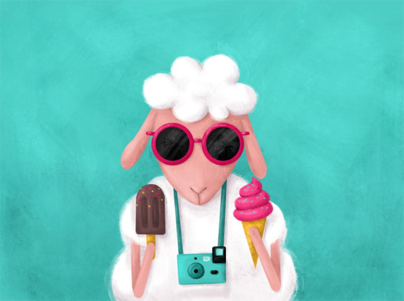 Summer-Mode-ON Lovely summer illustration examples to check out