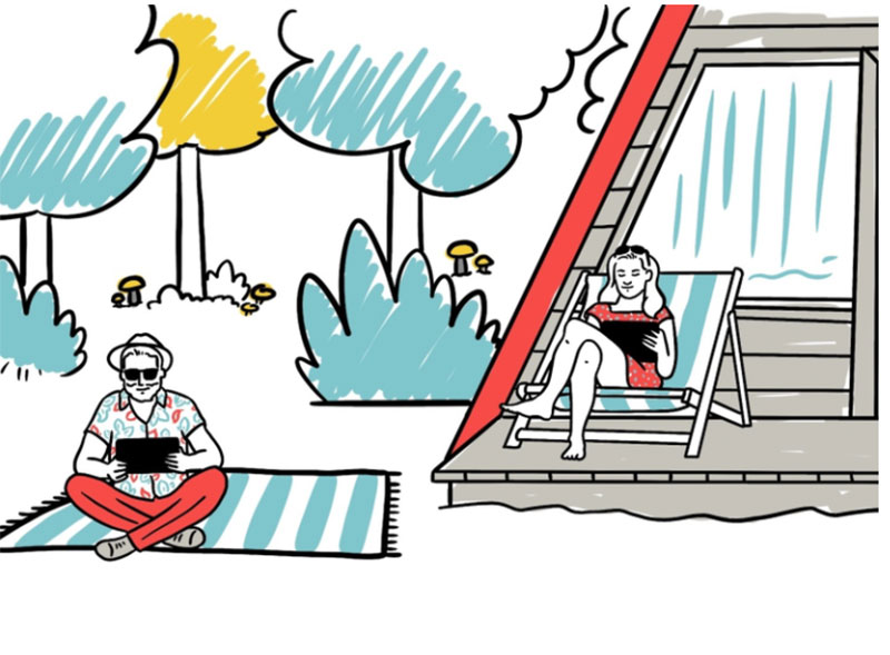 Summer-illustration Lovely summer illustration examples to check out