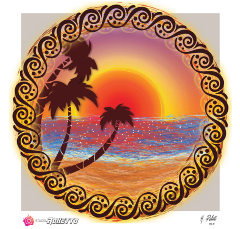 SUNSET-PALM-BEACH Lovely summer illustration examples to check out