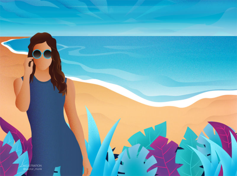 Summer-Mania Lovely summer illustration examples to check out