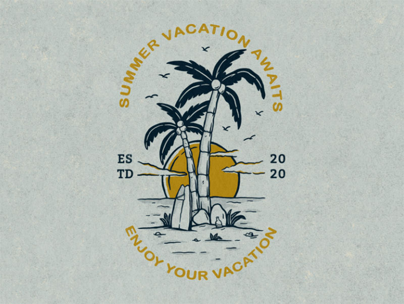 Summer-Vacation-Awaits Lovely summer illustration examples to check out