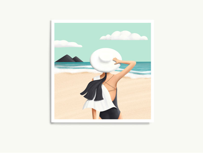 Beach-day Lovely summer illustration examples to check out