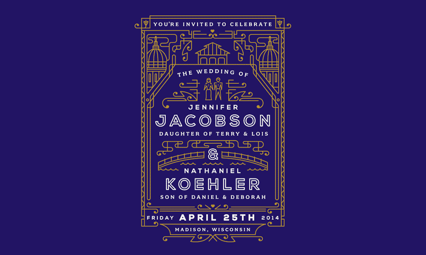 Jenn & Nate Wedding Invite