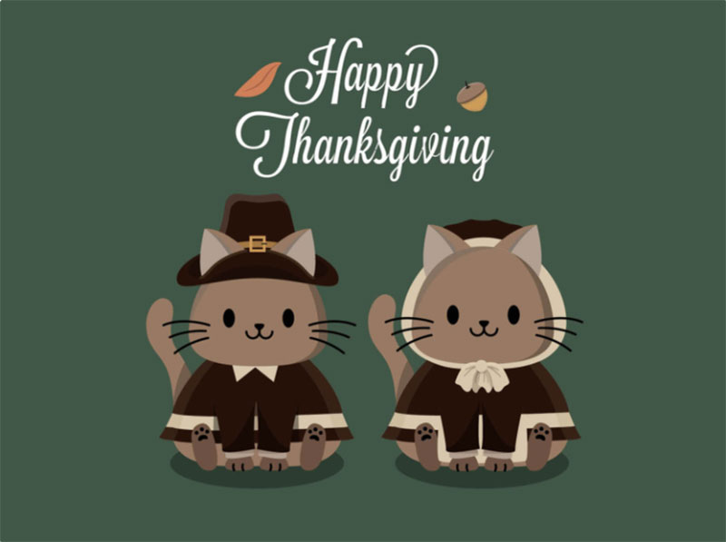 Happy-Thanksgiving-Pilgrims Thanksgiving illustration examples that are great