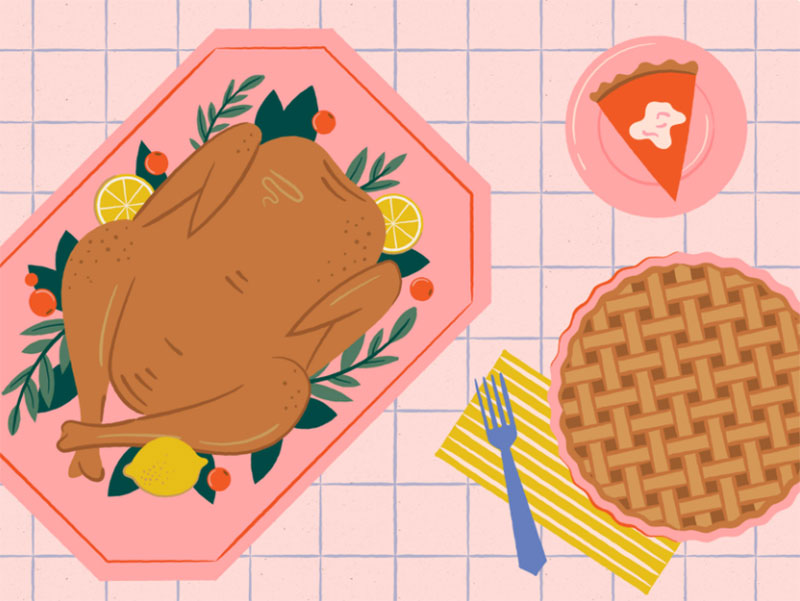 Thanksgiving-illustration Thanksgiving illustration examples that are great