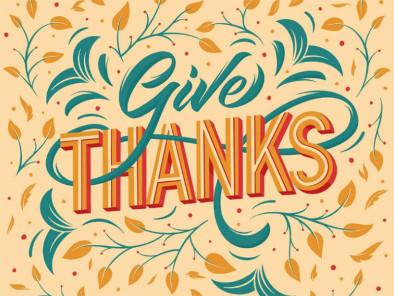 Give-thanks Thanksgiving illustration examples that are great