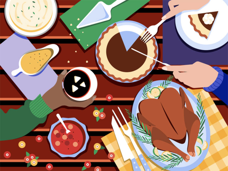 Thanksgiving-celebration Thanksgiving illustration examples that are great