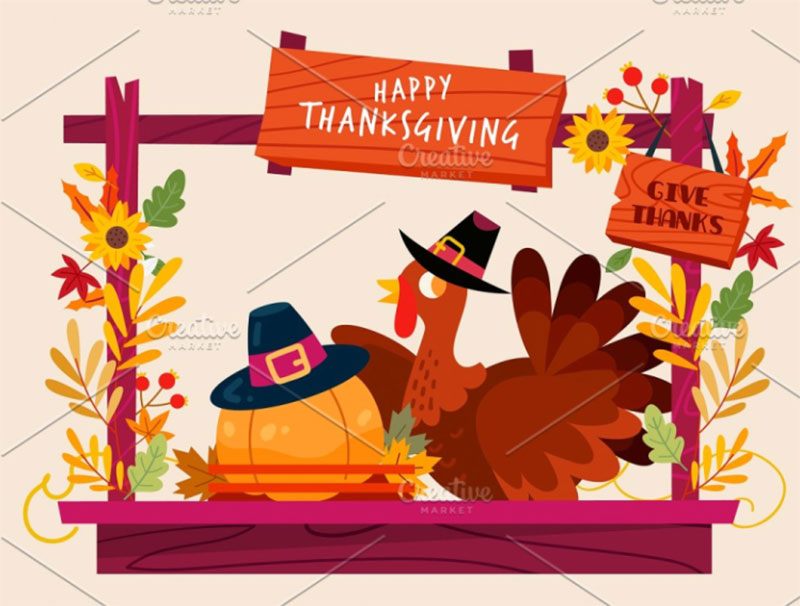 Thanksgiving-Booth Thanksgiving illustration examples that are great