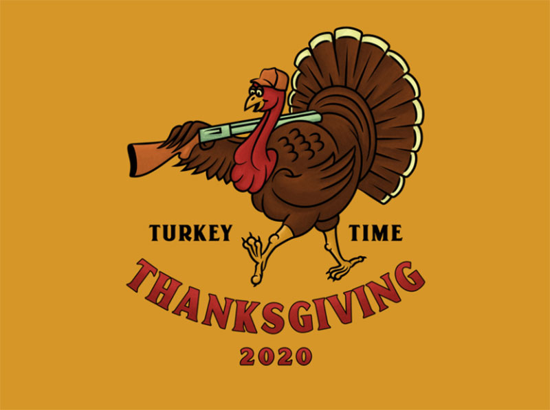 Turkey-Time Thanksgiving illustration examples that are great