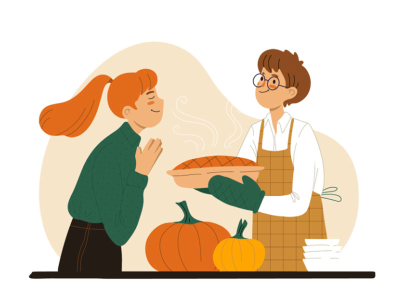 Mmmmmm Thanksgiving illustration examples that are great