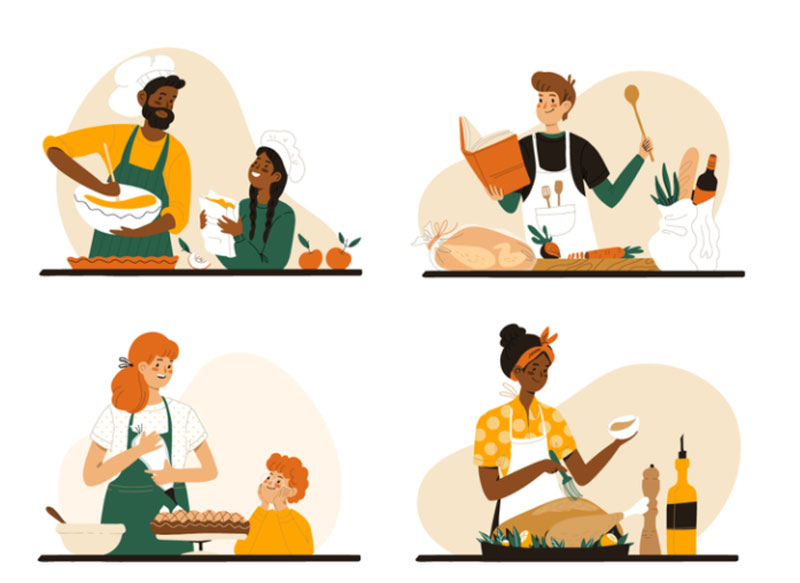 Thanksgiving-preparations Thanksgiving illustration examples that are great