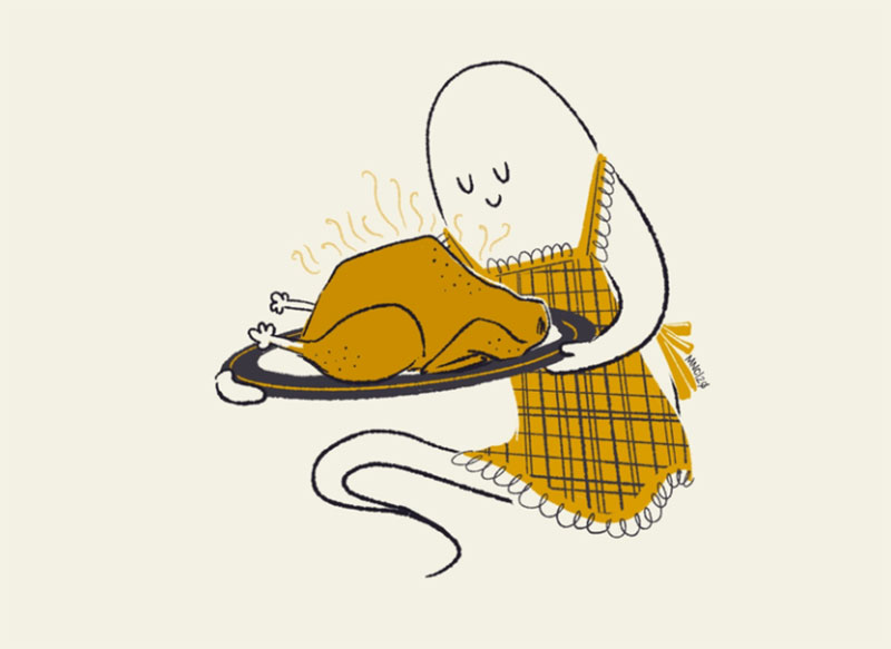 12-Roast Thanksgiving illustration examples that are great