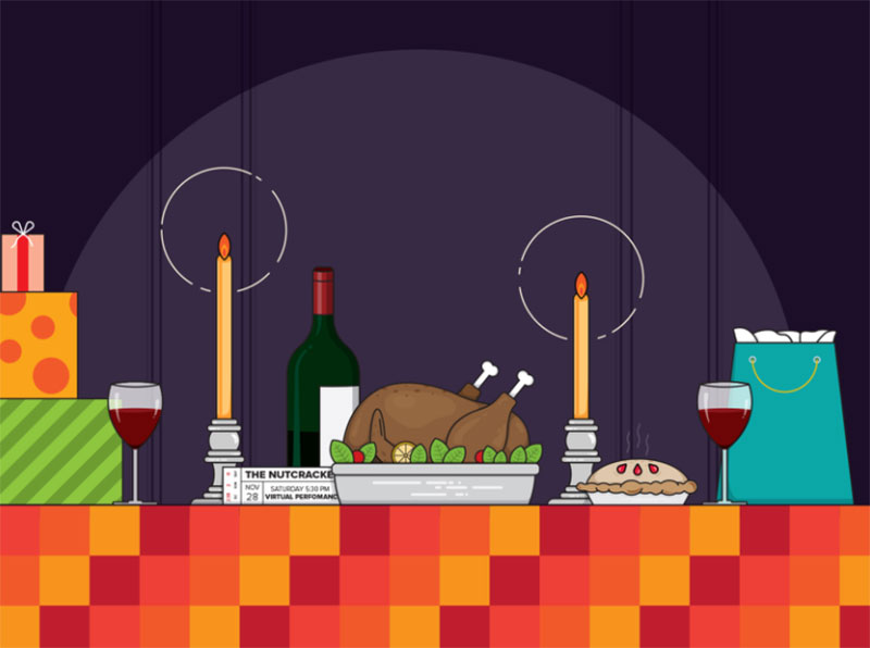 Holiday-Celebration Thanksgiving illustration examples that are great