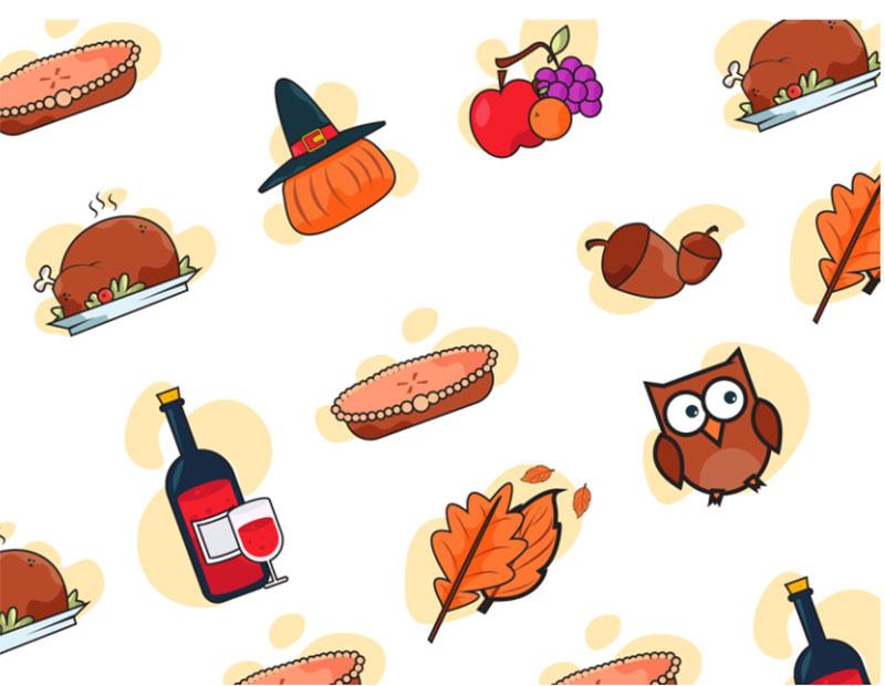 simple-Thanksgiving-illustration-material Thanksgiving illustration examples that are great