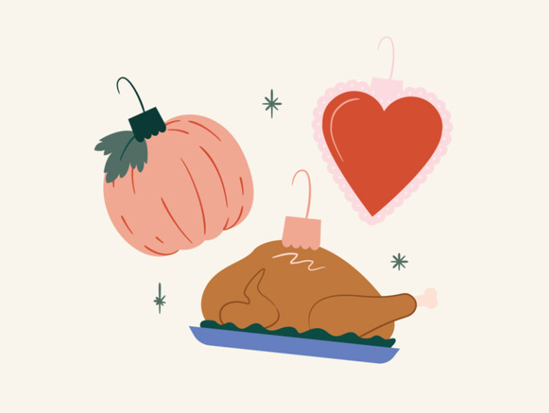 Holiday-Ornament-Illustration Thanksgiving illustration examples that are great