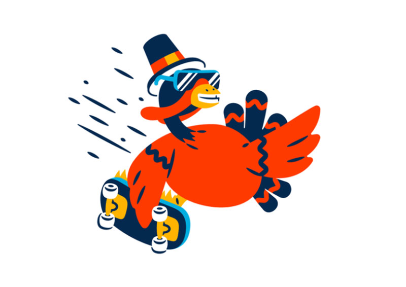 Cool-turkey Thanksgiving illustration examples that are great