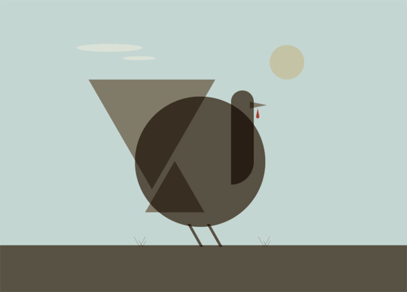 Mid-Century-Turkey Thanksgiving illustration examples that are great