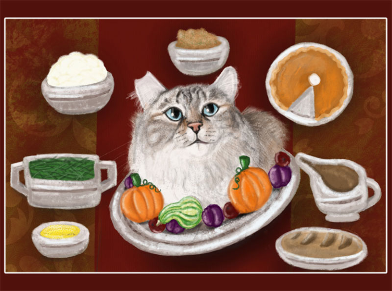 Turkey-Day Thanksgiving illustration examples that are great
