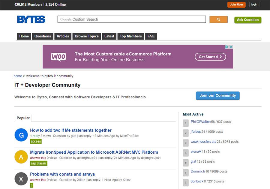 bytes homepage