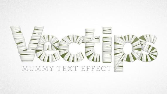 Create a Mummy Text Effect