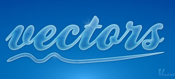 Create a glossy, smooth text effect