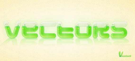 Create a Glassy Text Effect Filled with a Green, Acidic Substance