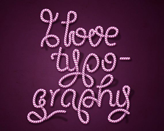HOW TO CREATE CANDY CANE TYPOGRAPHY