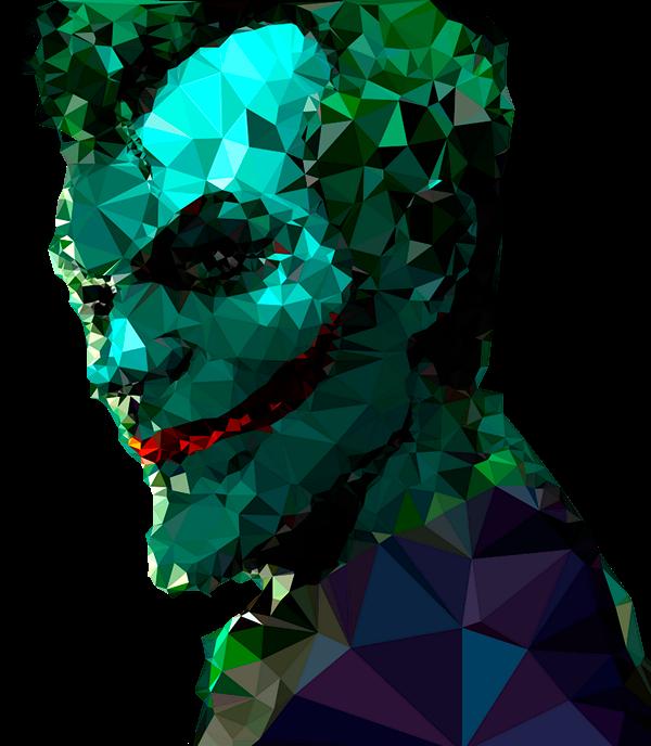 Joker Low Poly Art