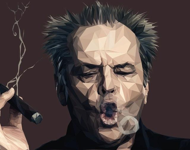 Jack Nicholson Low Poly Art