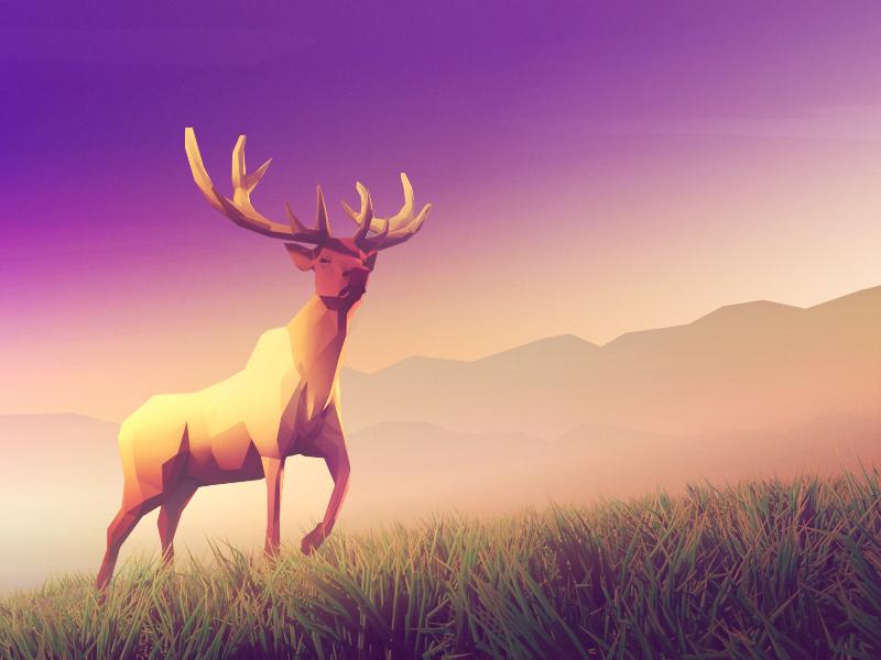 Deer Low Poly Art