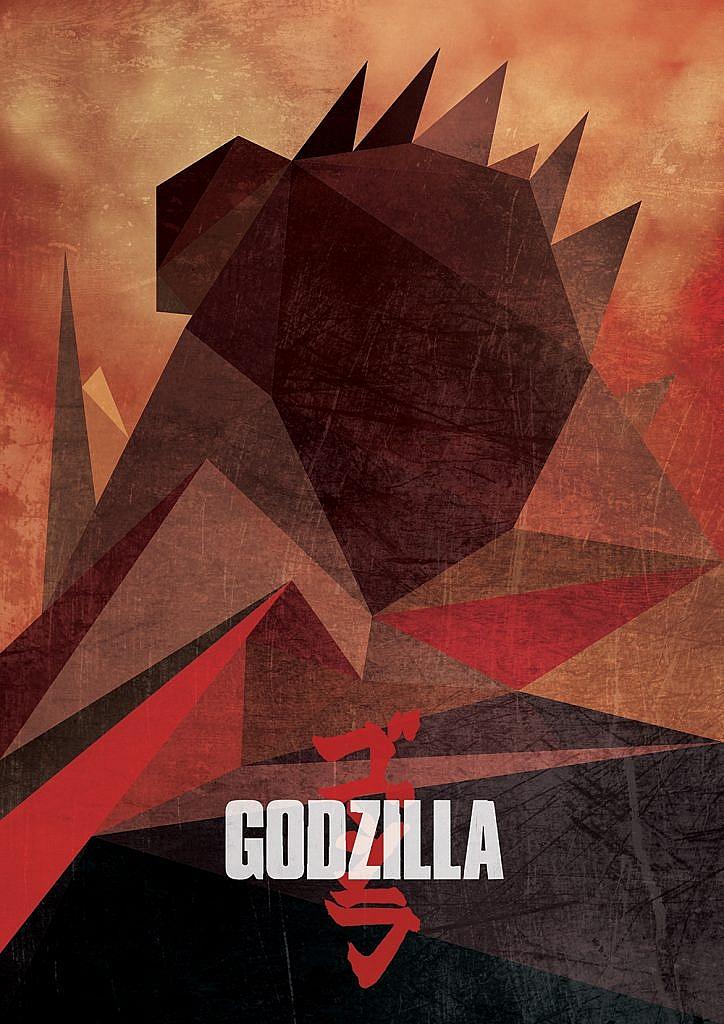 Godzilla Low Poly Art