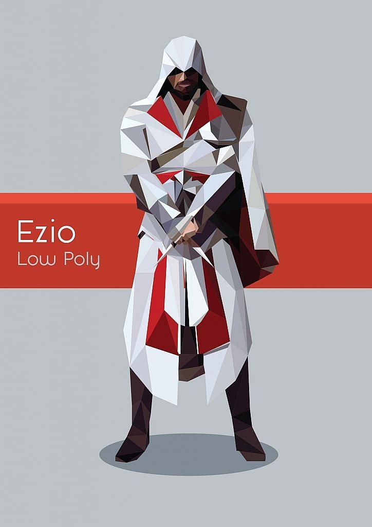 Ezio Low Poly Art